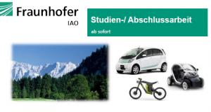 Abschlussarbeiten Fraunhofer IAO